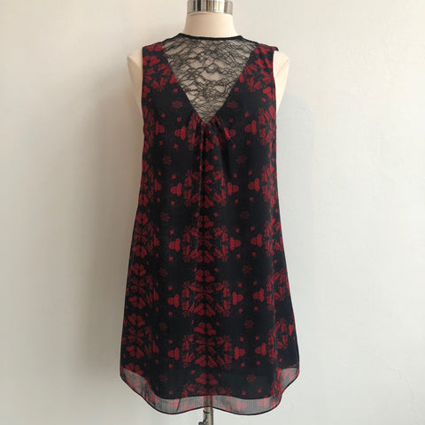 Alice Olivia Lace V Red Shift