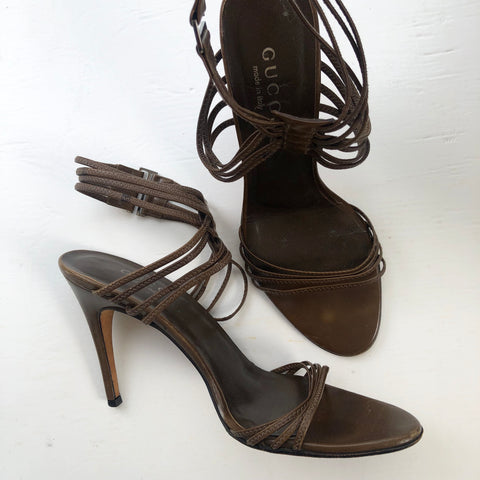 Gucci Strappy Sandals Brown