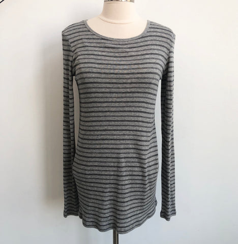 Vince Striped Gray Pullover NWT