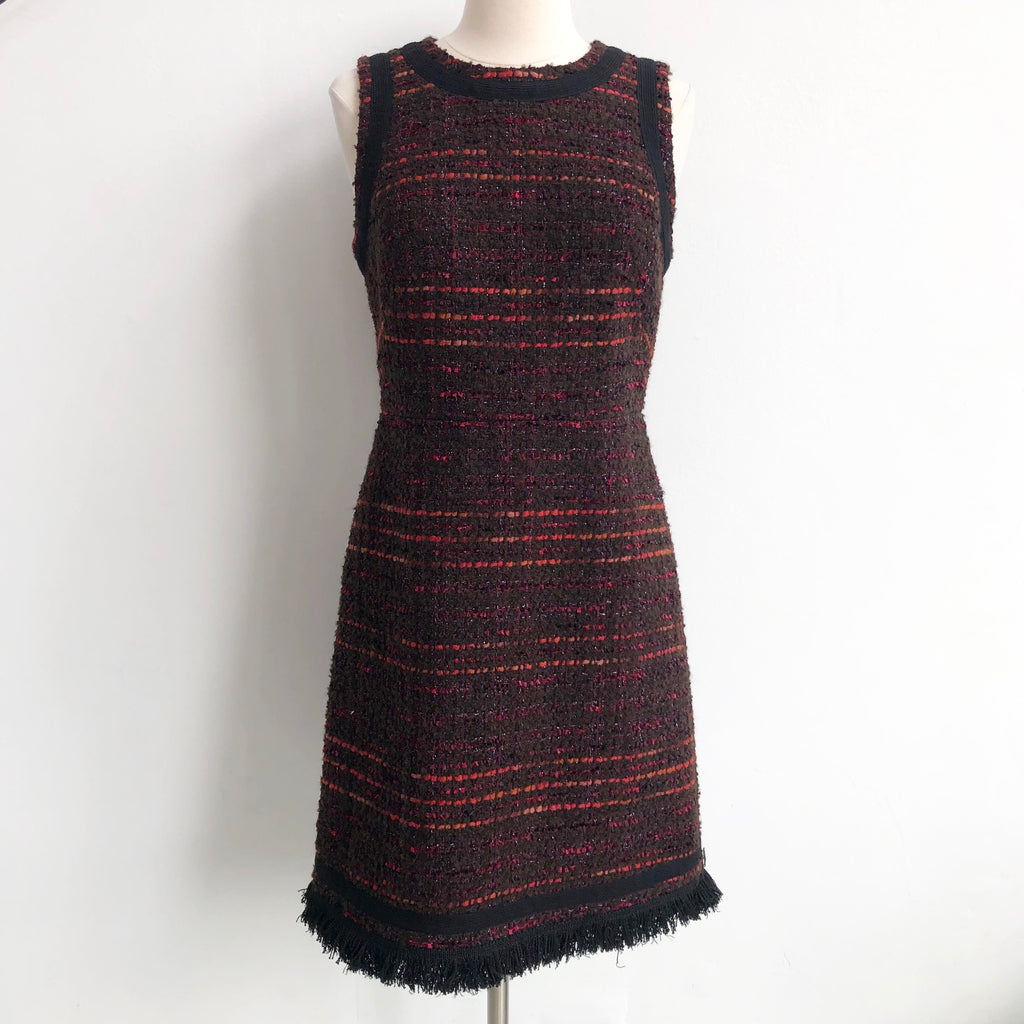 Kate Spade Tweed Red Black Dress