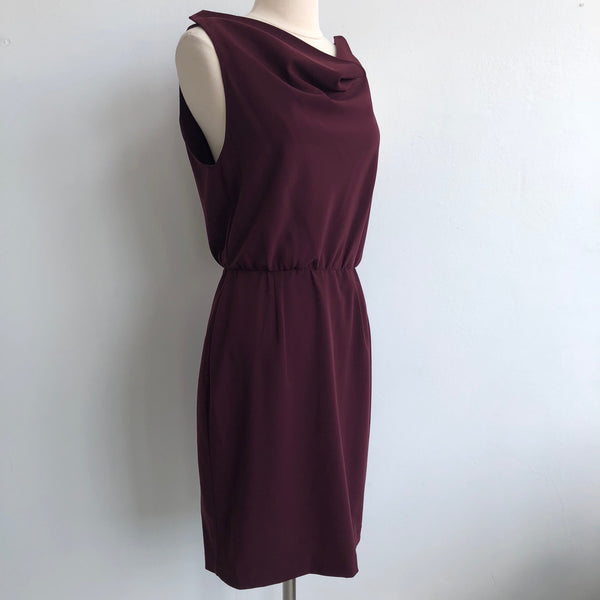 Alice Olivia Deep Red Cowl Dress