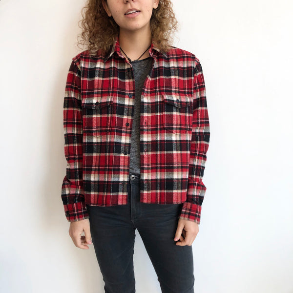 YSL Red Black White Flannel