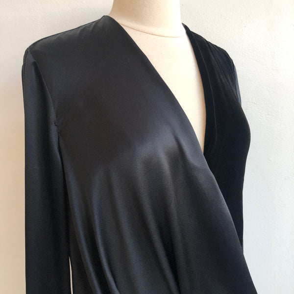 Rag & Bone Black Velvet Silk NWT