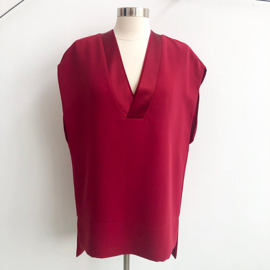 Vince Red V Tunic