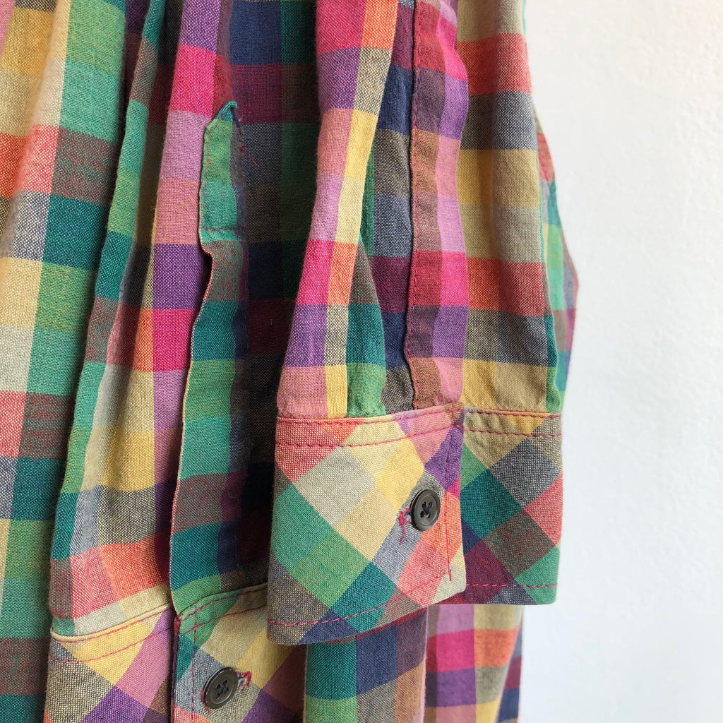 b13150858b Theory Rainbow Plaid Shirt Dress – Vice