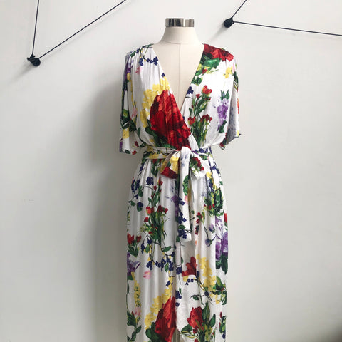 Alice Olivia Floral Wrap Maxi Dress