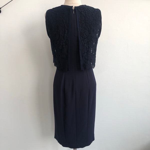 Rebecca Taylor Navy Lace Top Dress