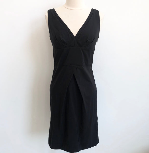 DVF Black V Dress