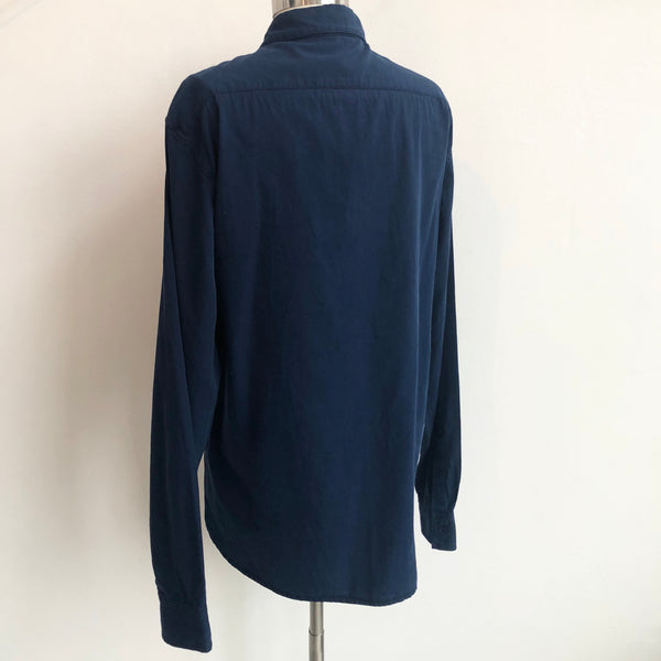 1.61 NWT Navy Button Up