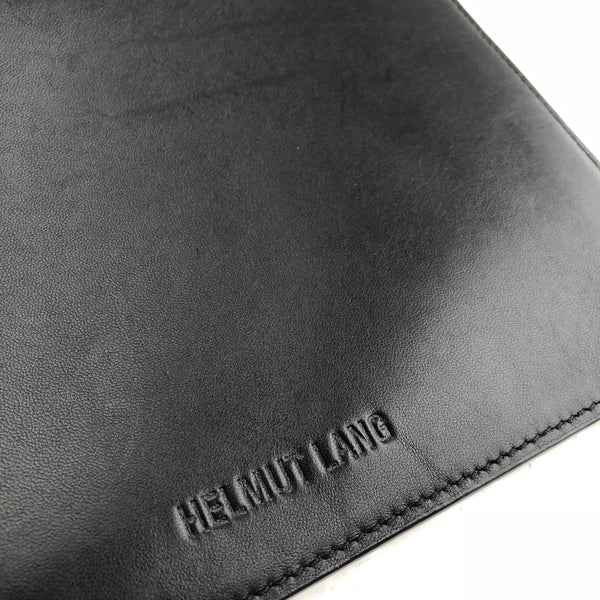 Helmut Lang Double Zip Leather Clutch