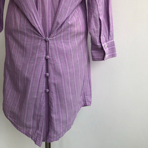 Elizabeth James Purple Shirt Dress