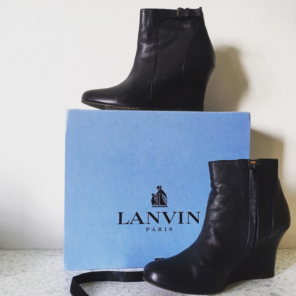 Lanvin Black Bootie w/box