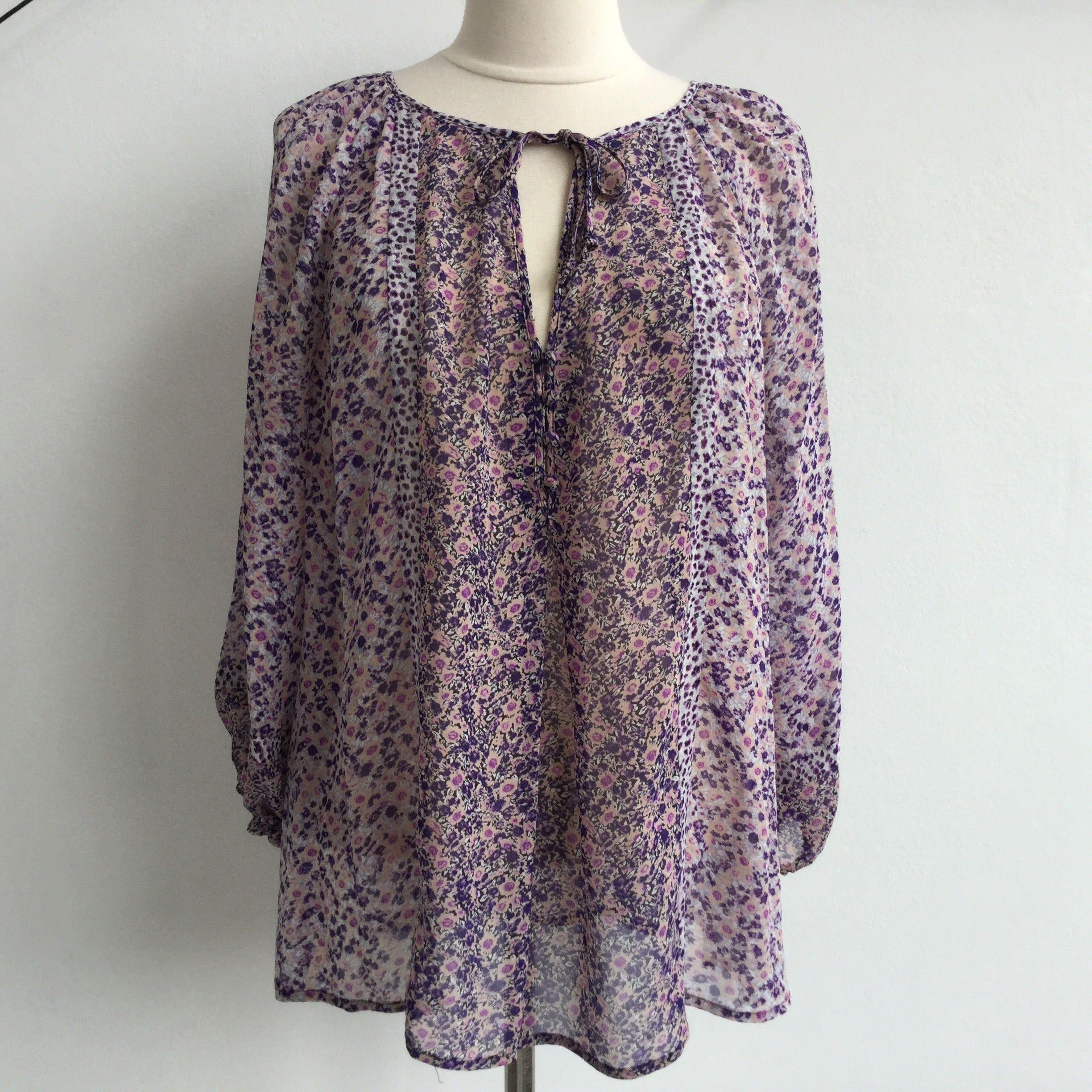 Joie Purple Floral Pullover