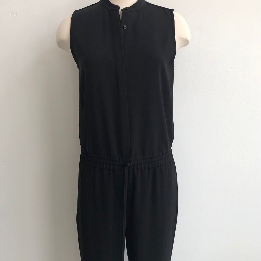 Vince Sleeveless Black Jumpsuit