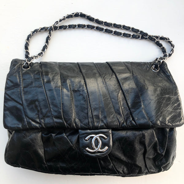 Chanel Pleated Leather Flap
