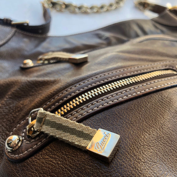 Gucci Bronzed Leather Zip w/dust bag