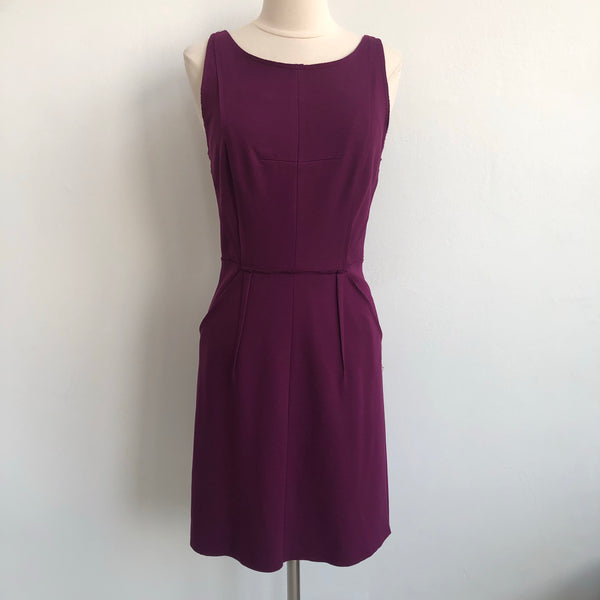 Milly Purple Pencil Stretch Dress