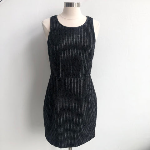 Theory Black Tweed Sleeveless Dress