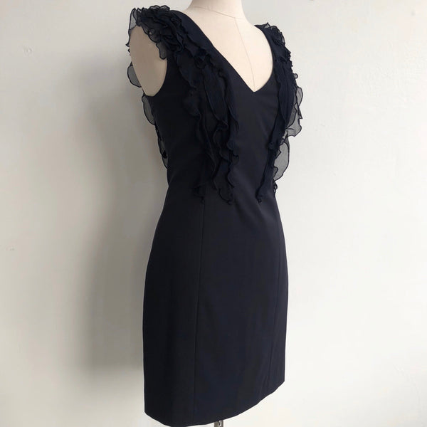 Rebecca Taylor Ruffle Front Navy