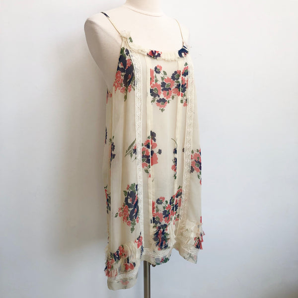 Joie Floral Lace Shift Dress