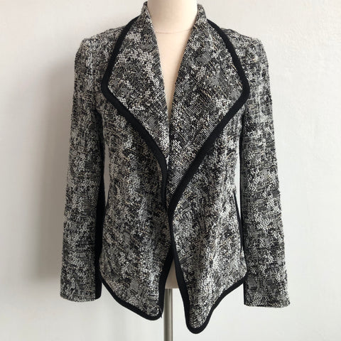 Vince Black White Blazer Leather