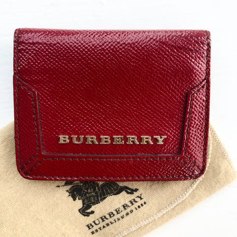Burberry Red Card Holder