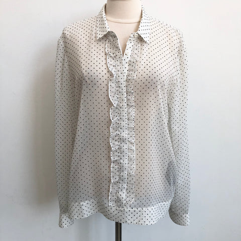 The Kooples Sheer Polka Dot Blouse
