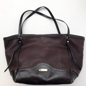Burberry Leather Brogue Tassel Canterbury Tote
