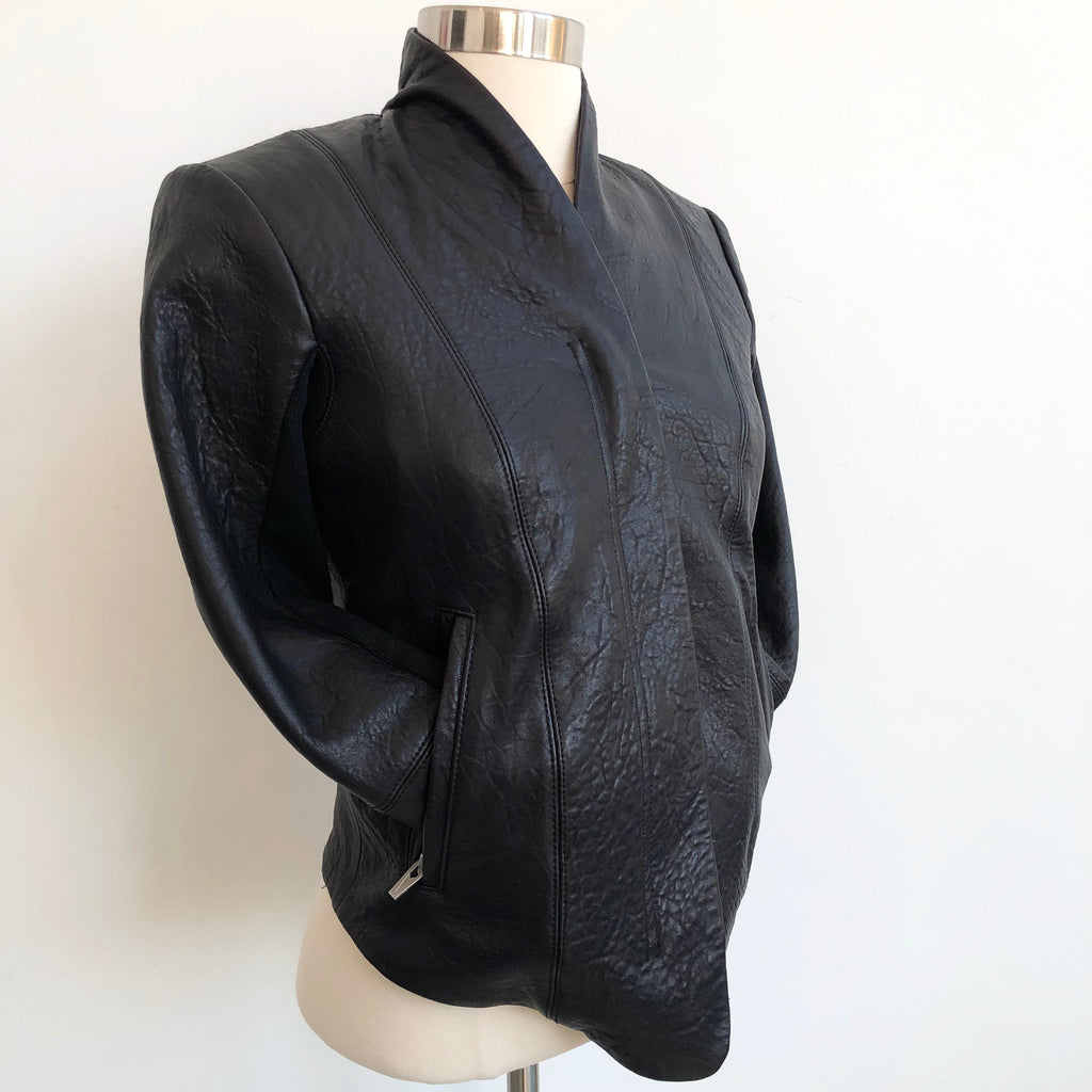 Veda Leather V Jacket