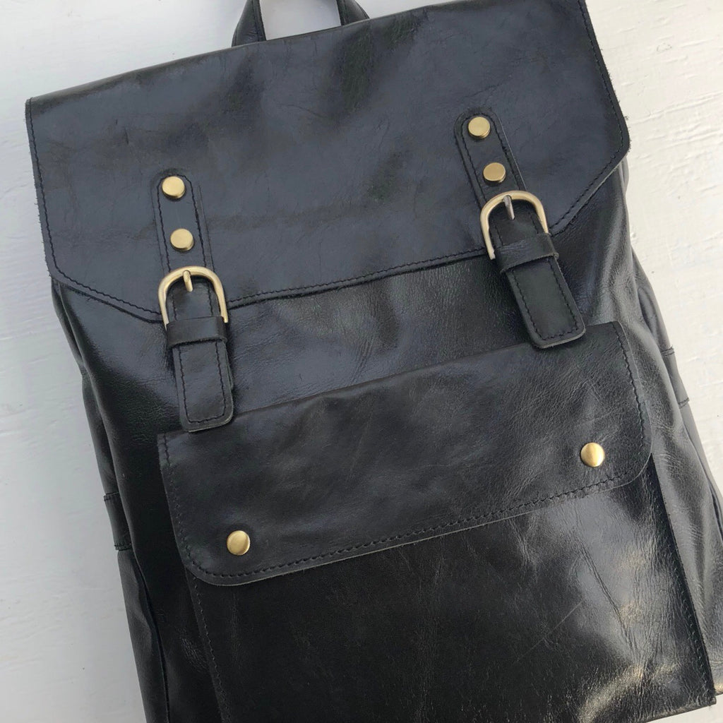 DesignsByTHOR Leather Business Backpack