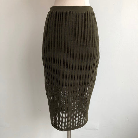 Alexander Wang Green Perforated Skirt