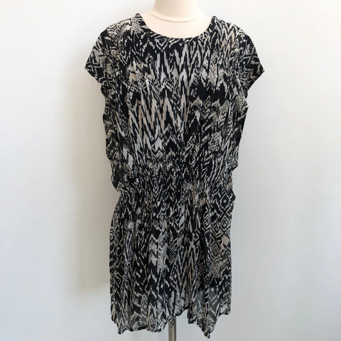 IRO Black White Blouson Dress