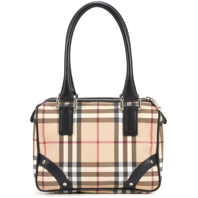 Burberry Small Nova Check Coated Canvas