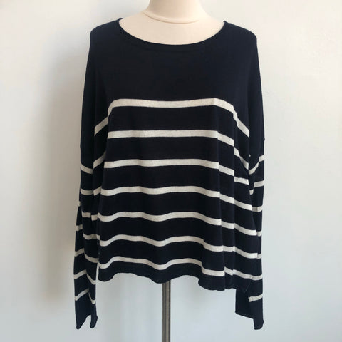 Vince Navy Striped Sweater
