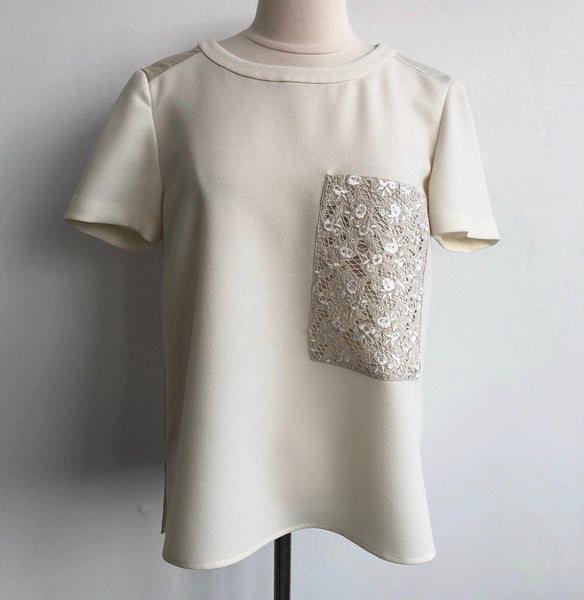 Rag & Bone Ivory Lace Pocket