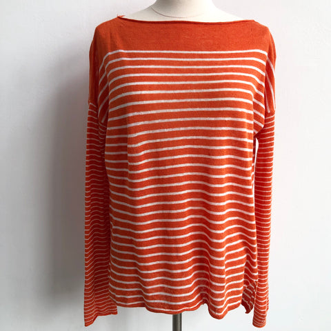 Vince Orange White Stripe