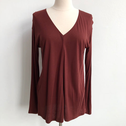 Vince Burnt Red Long Sleeve T NWT