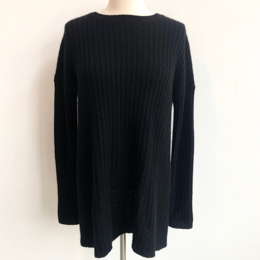 360 Cashmere Black Cashmere Open Back