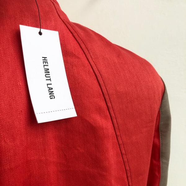 Helmut Lang Coral Leather