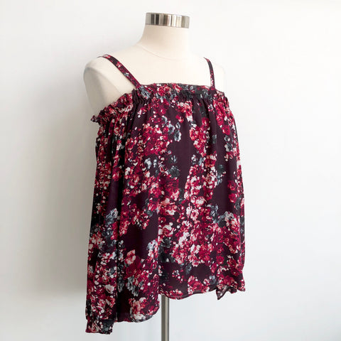 Parker Floral Cold Shoulder Blouse