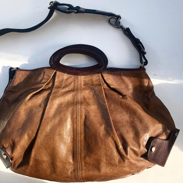 Marni Brown Balloon Bag Crossbody