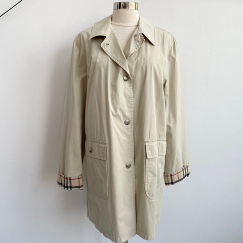Burberry Khaki Button Trench