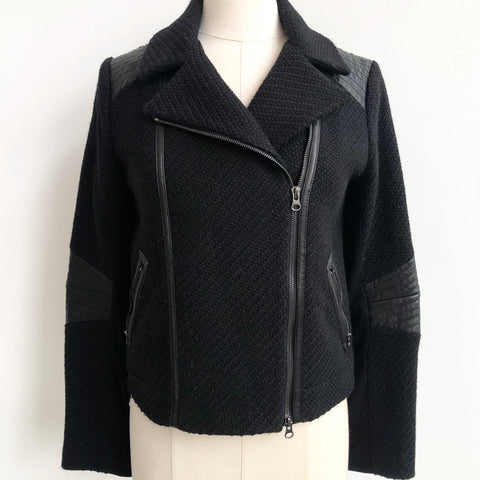 Vince Black Bomber Jacket