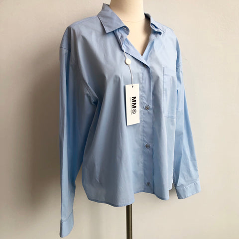 MM6 Blue Button Up NWT
