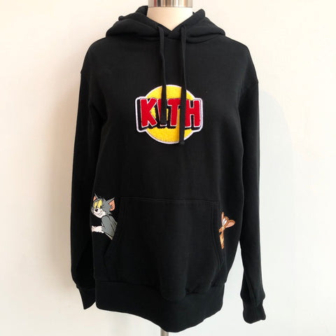 Kith Black Logo Hoodie Tom and Jerry