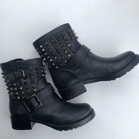 Valentino Studded Black Booties