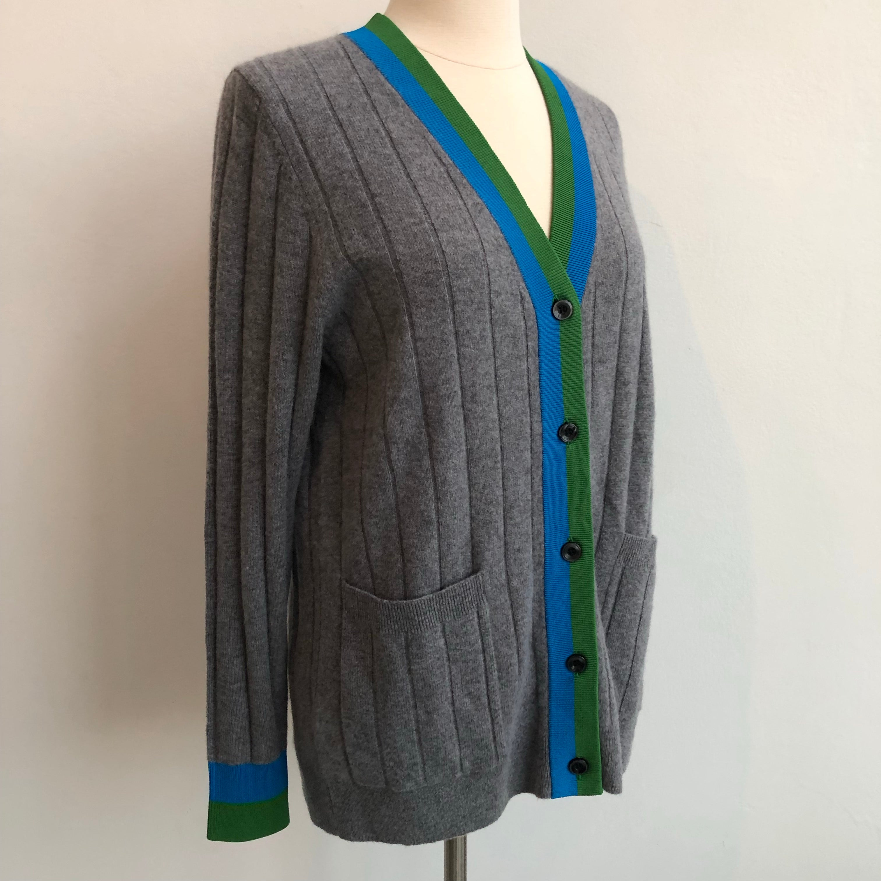 Kule Gray Green Blue Cardigan