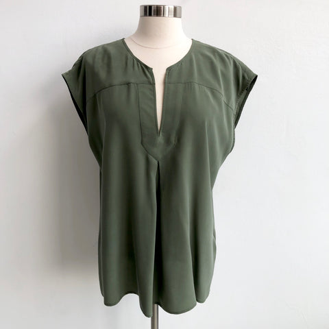 Joie Green Silk Short Sleeve