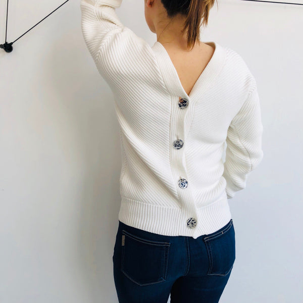 Victoria Beckham Button Back Cardigan NWT