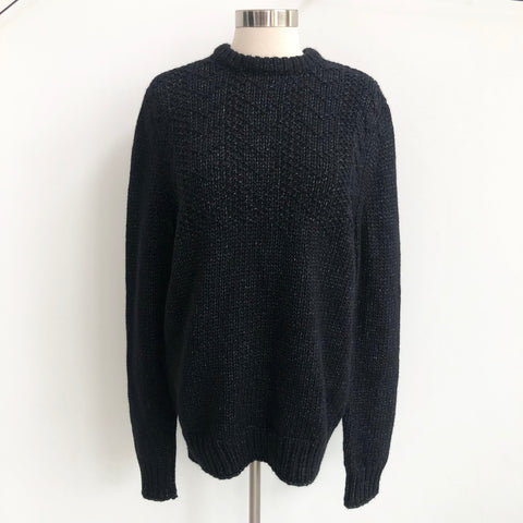 Theory Black Woven Sweater